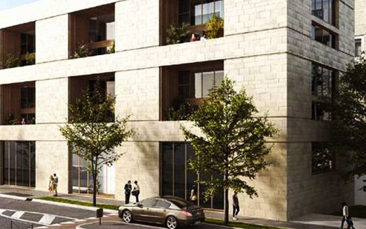 Programme pinel à Bordeaux, façade de la Résidence Passage Saint Germain vue sur rue