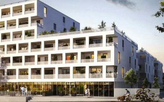 Programme pinel à Lormont, façade de la Résidence Latitude vue sur rue
