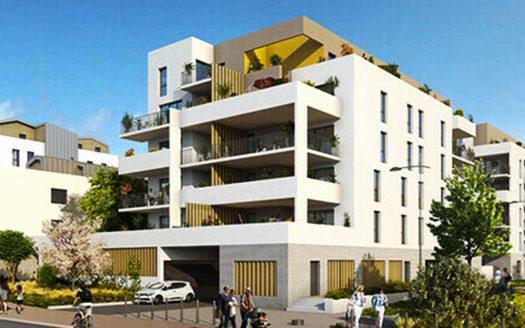 Programme pinel à Lormont, façade de la Résidence Referen'ciel vue sur rue