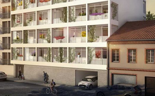 Programme pinel à Toulouse, façade côté rue de la Résidence Iloa