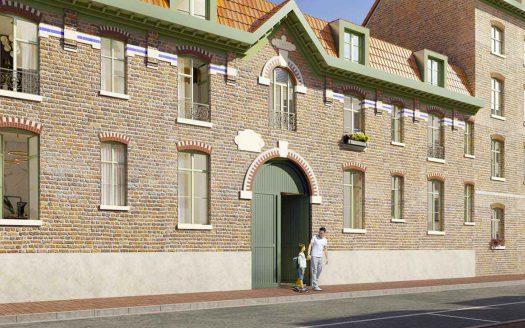 Programme Malraux à Lille, façade de la Résidence les Pénitentes